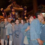 流山赤城神社の神輿、笑顔でわっしょい!