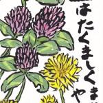 赤詰草とタンポポ